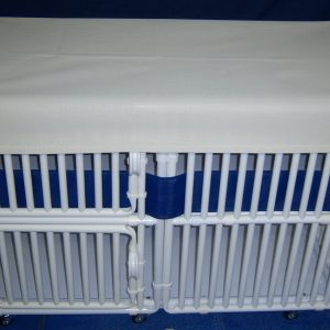 "Crib Style Puppy Pens 36"" High Panels Puppy Crib - total height 36"" + 3"" for caster wheels"