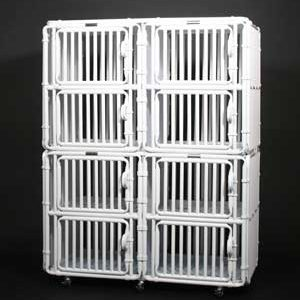 "Dog Kennel Large 36"" High Panels Eight Plex - total height 72"" + 3"" for caster wheels"
